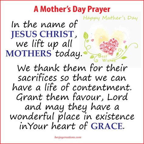s day grace a prayer for mothers