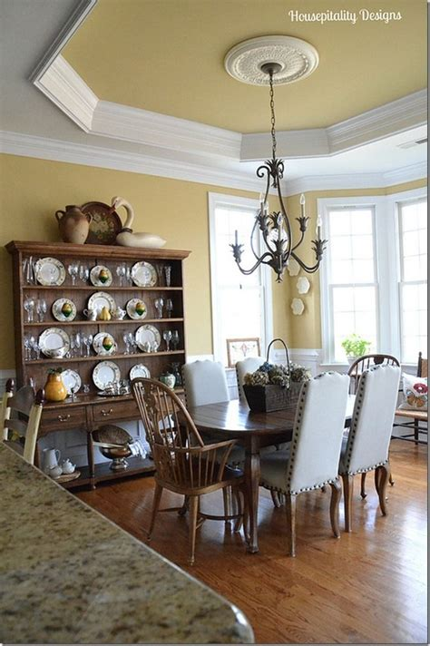 80 Best Images About Tray Ceiling Dining Room On Should Ceilings Be Painted White