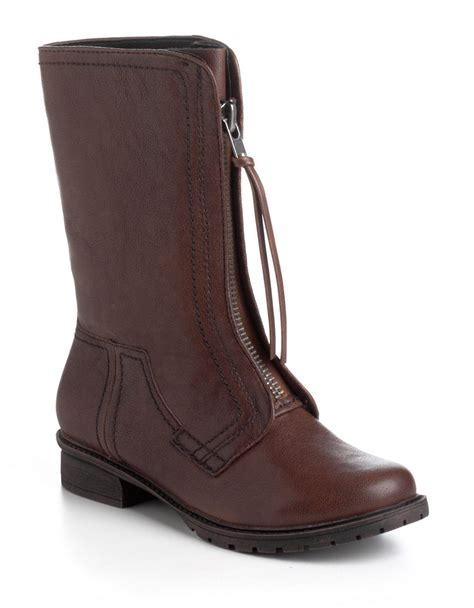 me boots kenneth cole reaction 2 me leather boots in brown lyst