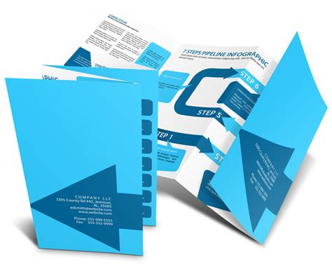 8 page accordion fold brochure mockup cover actions