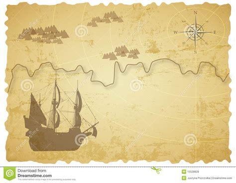 alte schatzkarte vektor abbildung illustration von antike
