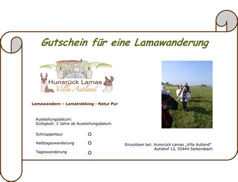 Word Vorlage Gutschein Lamatrekking Hunsr 252 Ck Lamas Quot Villa Autland Quot Microsoft Word Gutschein Autoform Doc