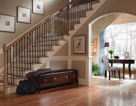 hallway stairs with wooden furniture ideas your dream home