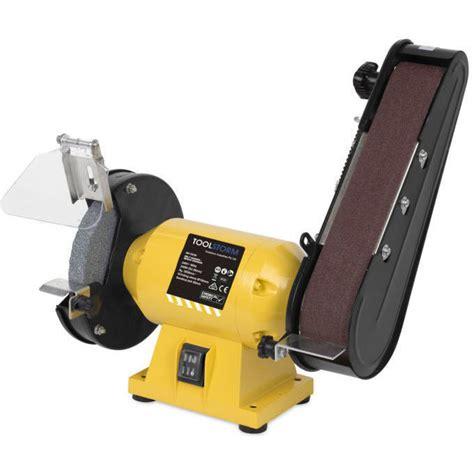 sanding disc for bench grinder bench grinder w 150mm disc 11 sanding belts 240w buy bench grinders