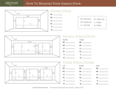 How To Measure A Garage Door by Measure Your Garage Door With 4 Simple Steps Artisan