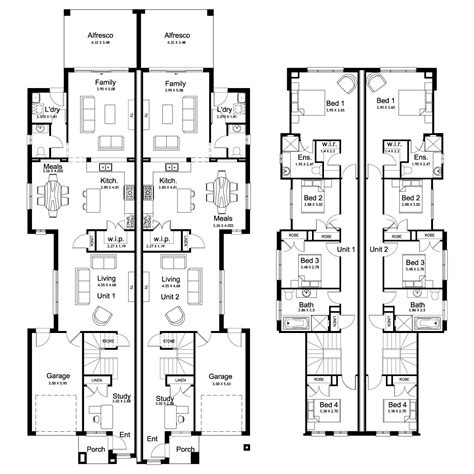 duplex house designs floor plans duplex house plans sydney home design and style
