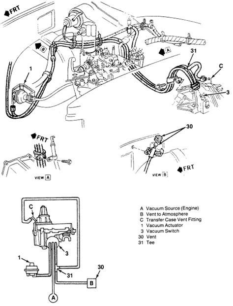 2000 gmc sonoma front differential parts diagram diagram auto wiring diagram front drive axle vacuum actuator solenoid valve