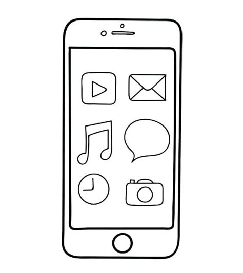 Iphone 6 Coloring Pages by Iphone 6 Coloring Page Coloring Pages
