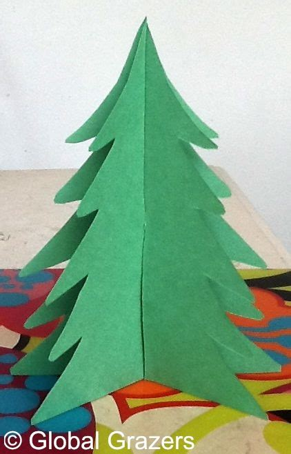 construction paper christmas tree wintry weekends tree centerpiece global grazers