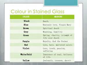 what does the color blue in the bible what does stained glass window represent