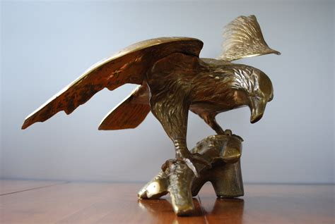 vintage large brass eagle statue americana majestic