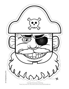 printable pirate mask pin outline pirates mask daniels sistema de administracion