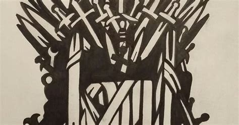 game of thrones iron throne stencil out of my