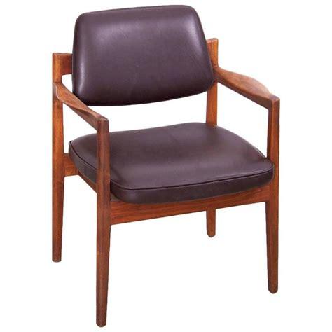 Jens Risom Armchair by Jens Risom Armchair In Walnut And Leather By Jens Risom