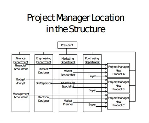 12 Project Organization Chart Templates To Download Sle Templates Project Management Structure Template