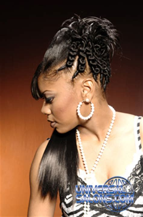 black hairstyles ridges ponytail hairstyle with ridges twist and highlights from