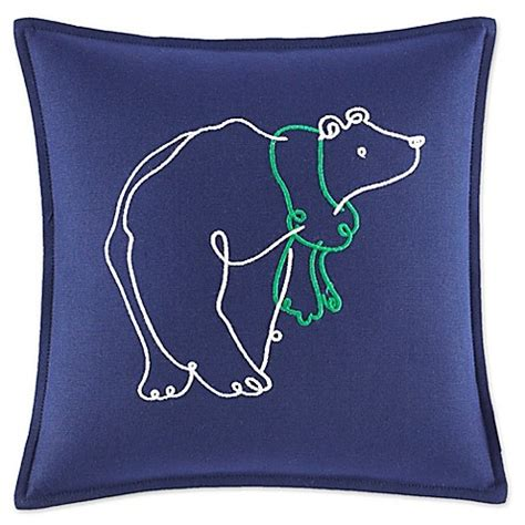 bed scarves and matching pillows reinvest consultants ed ellen degeneres embroidered polar bear mini throw