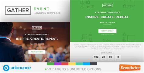 Unbounce Event Landing Page Template Gather Jogjafile Event Landing Page Template Free