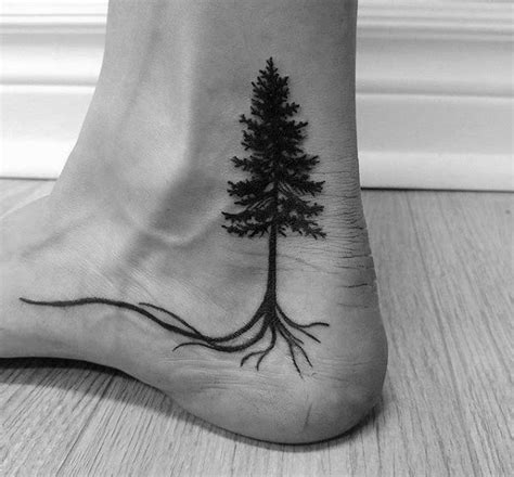 tree roots tattoo designs 70 ankle tattoos for masculine design ideas