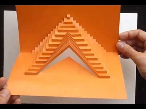 Fractal Card Template by 03 How To Build Stairs Pop Up Card Tutorial