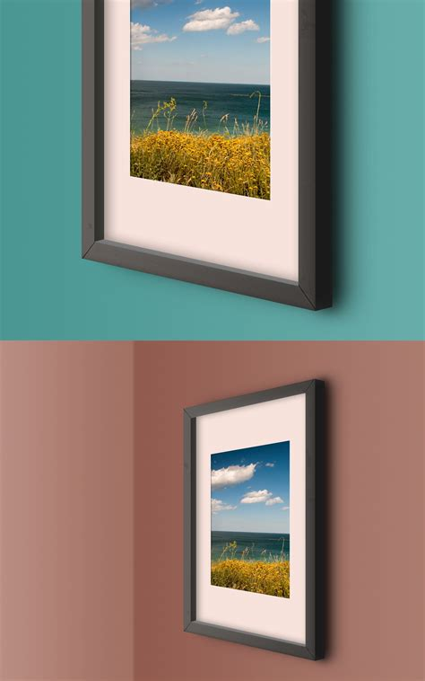 wall post template wall photo frame mockup template graphicsfuel