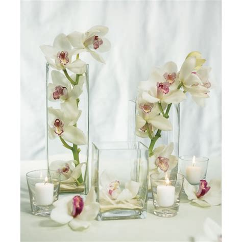 Vase Centerpieces by Wedding Centerpiece Square Vase