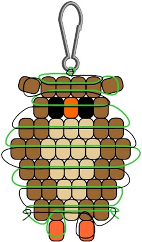 pony bead owl pendant pony pony bead patterns and