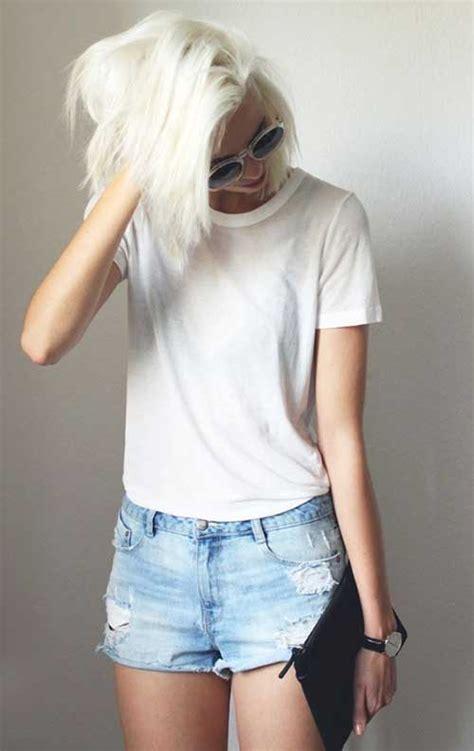 hairstyles bleach blonde hair 20 best short bleached blonde hair short hairstyles 2017