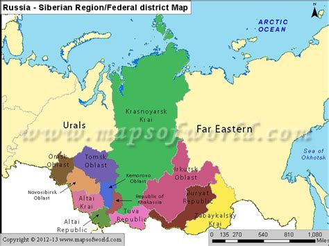 russia map by region siberia map my