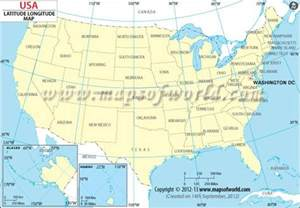 usa latitude and longitude map free printable esl