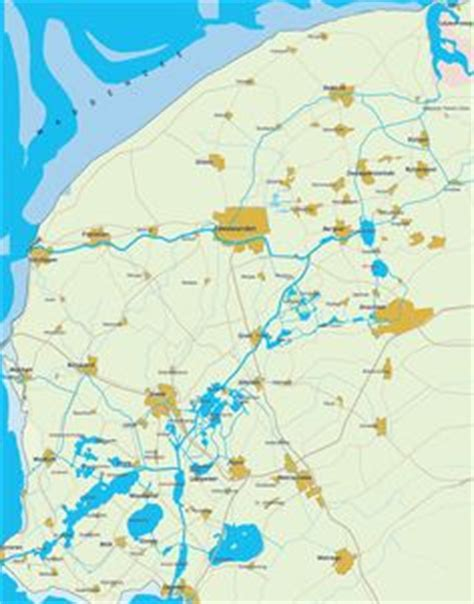 netherlands lakes map finding your route on the water map of friesland