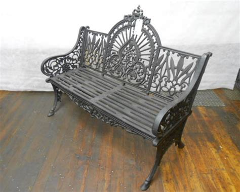 black iron bench black iron bench myers antiques and reproductions