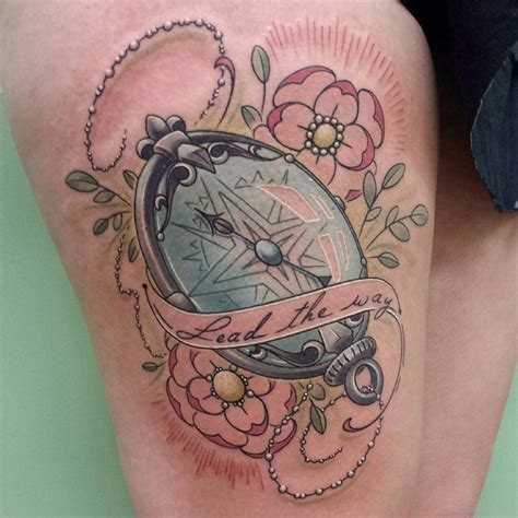 compass tattoo with flowers compass tattoos tattoo designs tattoo pictures page 13