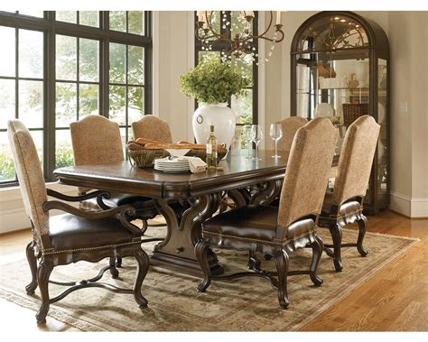 thomasville dining room tables bibbiano trestle dining table dining room furniture