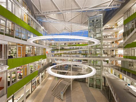 design house barcelona lighting atrium harris school at keller center wow pinterest