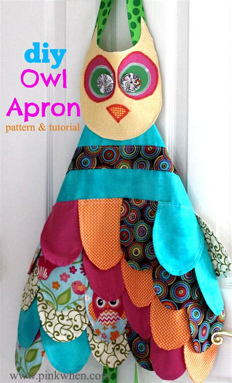Owl Play Time make a diy owl apron for playtime with this and