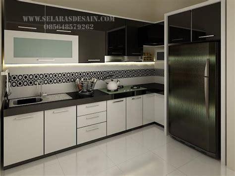 desain dapur nuansa hitam desain kitchen set elegan dengan nuansa hitam putih