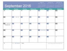 September 2016 calendar template page 4 of 8 when is calendar