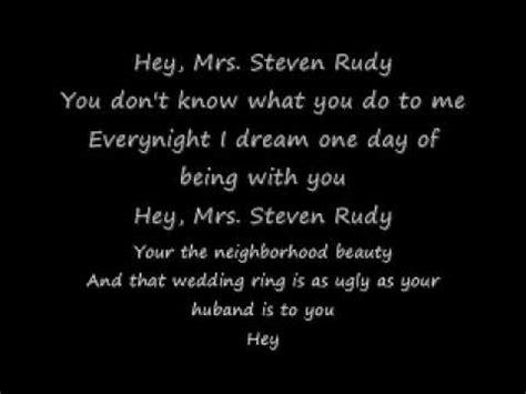 mrs steven rudy mark mcguinn mrs steven rudy lyrics