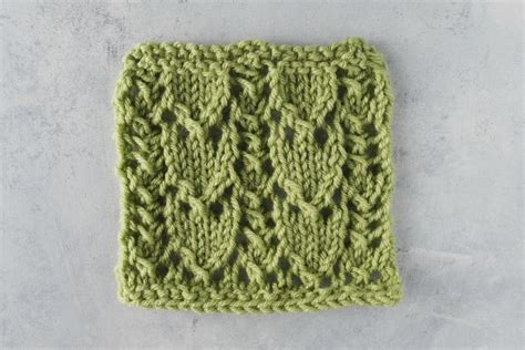 knitting stitches easy how to knit the snowdrop lace stitch allfreeknitting