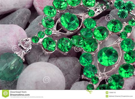 green colored green colored precious jewellery stock photos