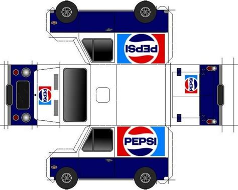 Truck Papercraft - pepsi cola paper model by papermau now