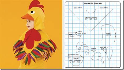 como hacer disfraz de gallo disfraz casero de gallo para beb 233 con patrones simples