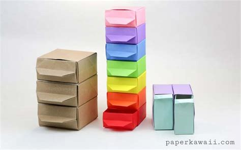 How To Make Paper Drawers - 36 diy rainbow crafts that will make you smile all day