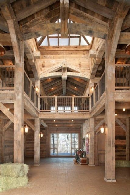 Open Beam. What a BEAUTIFUL barn! This is what I would