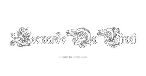 leonardo da vinci tattoo designs leonardo da vinci artist name designs tattoos