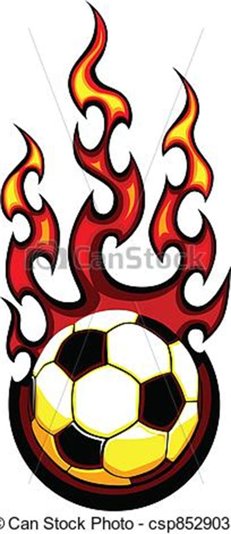 Free Clipart Flaming Soccer by Vector Of Soccer Flaming Vector Flaming Soccer