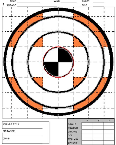 printable 200 yard rifle targets exploding groundhog productions free varmint target