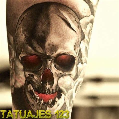 imagenes de calaveras en 3d calavera 3d con toques de color tatuajes 123