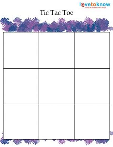tic tac toe choice board template free to print lovetoknow